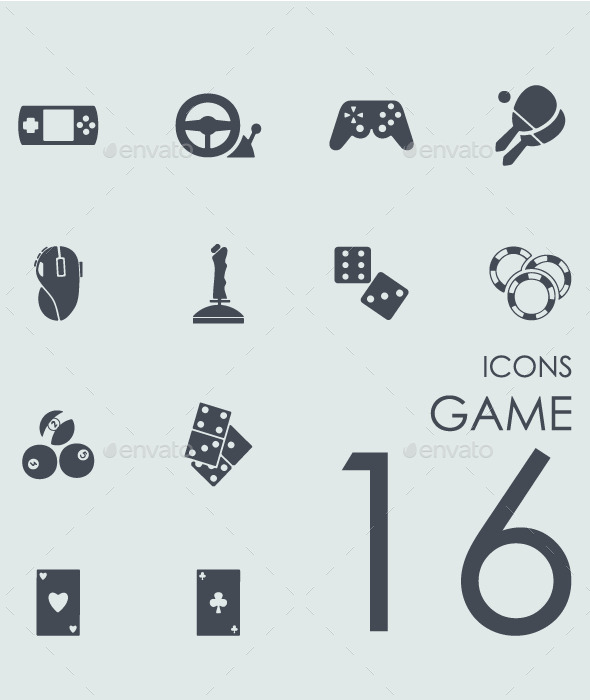 Set of game icons - Icons