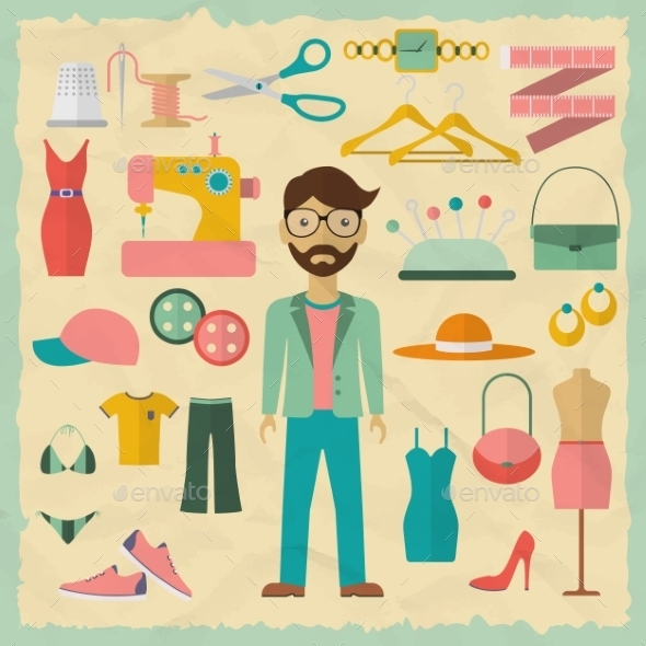 Fashion Designer Male Character Design - Industries Business