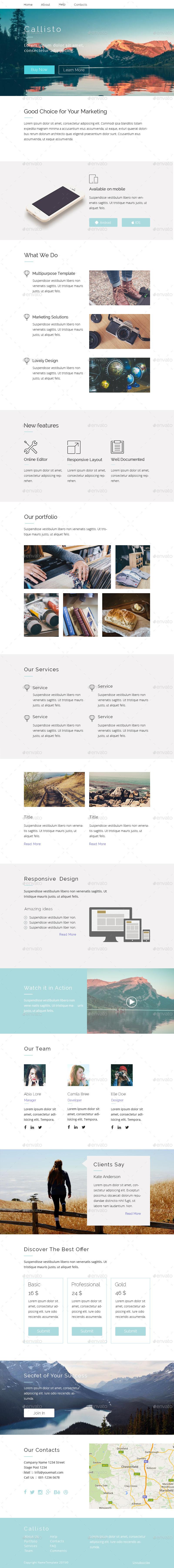 Callisto Clean Design Multipurpose Email Template