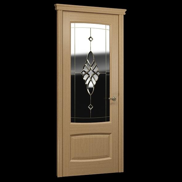 Interior door decorative glass