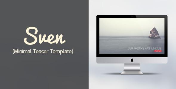 Sven – Minimal Teaser Template