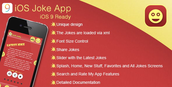 iOS Joke App Template - CodeCanyon Item for Sale
