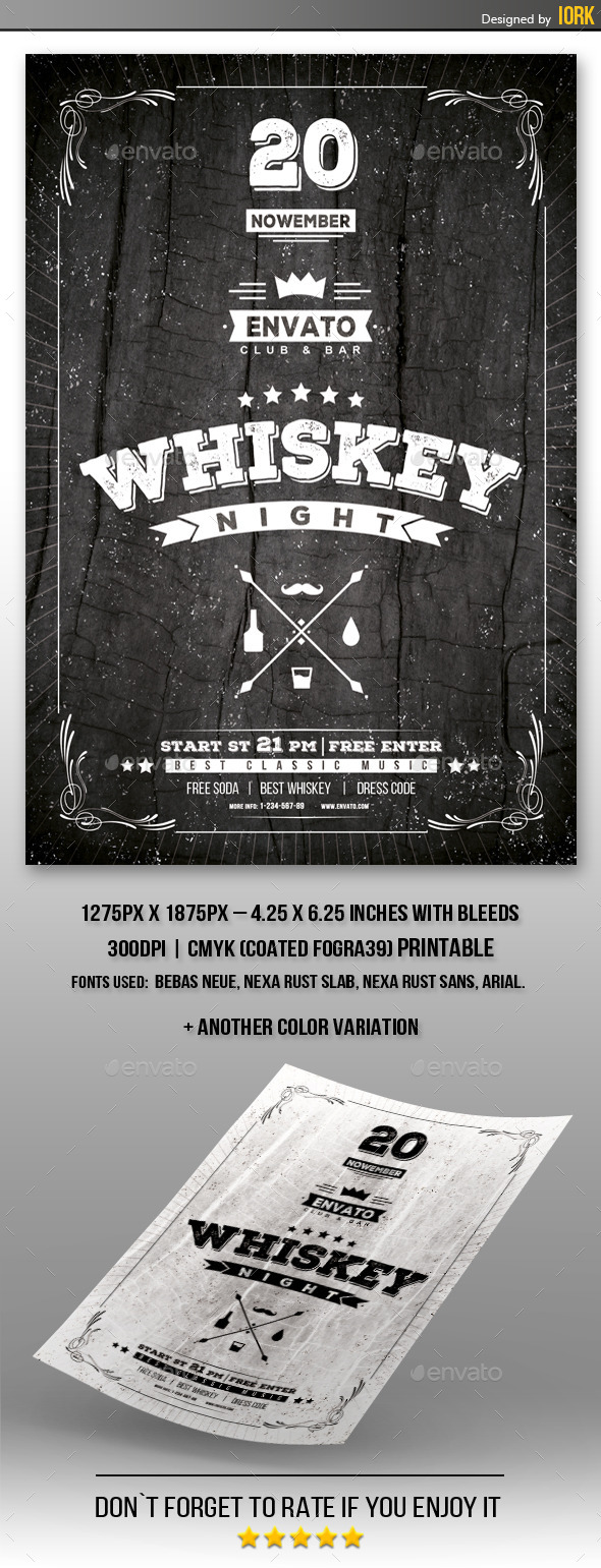Whiskey Night Flyer - Events Flyers