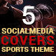 5 Social Media Cover Package for Workouts - GraphicRiver Item for Sale
