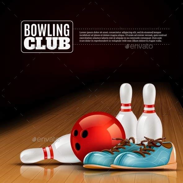 Bowling League Indoor Club Poster  - Sports/Activity Conceptual