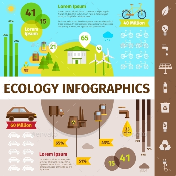 Ecology Infographic Set - Nature Conceptual