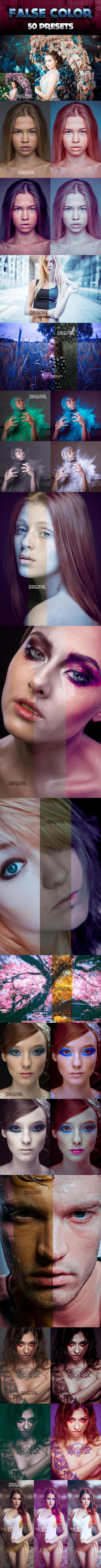 50 False Color Presets - Portrait Lightroom Presets