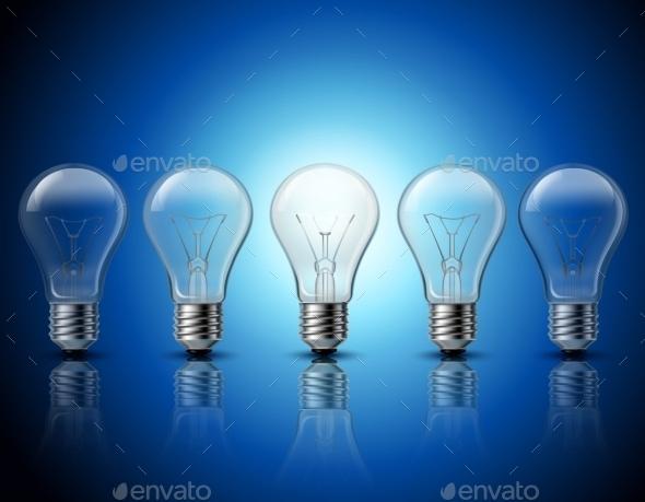 Light Bulbs Set Idea Concept Banner - Concepts Business