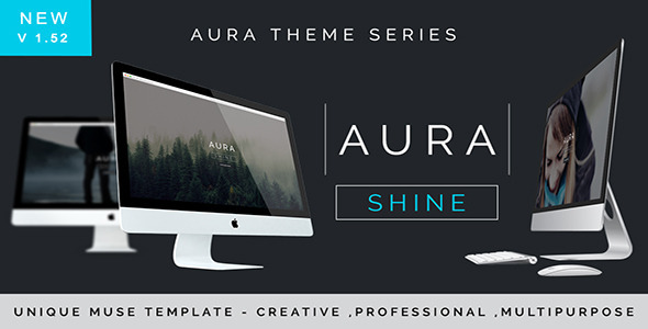 Aura Shine – A Unique Multipurpose Muse Template