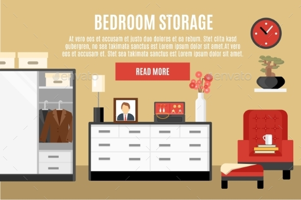 Bedroom Storage Illustration  - Man-made Objects Objects