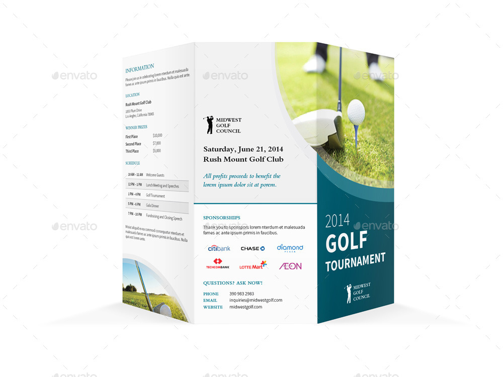 Free Golf Tournament Flyer Template Charity Golf Tournament Flyer