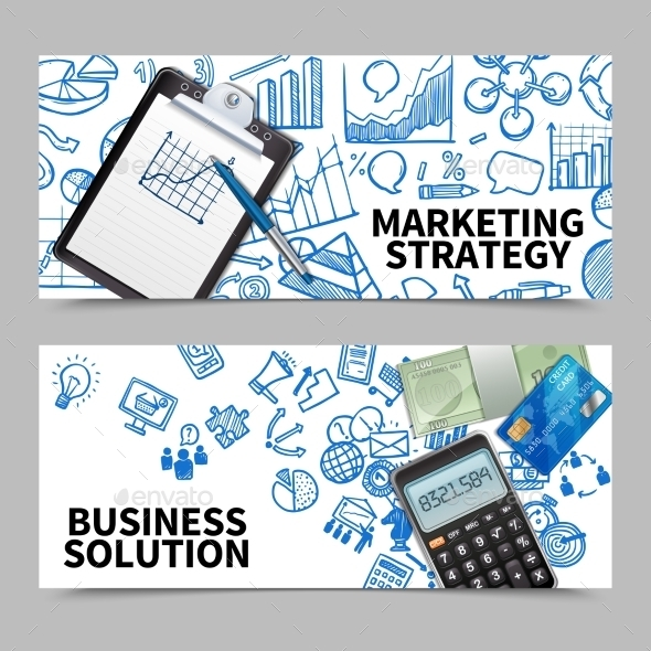 Marketing Banner Set - Concepts Business