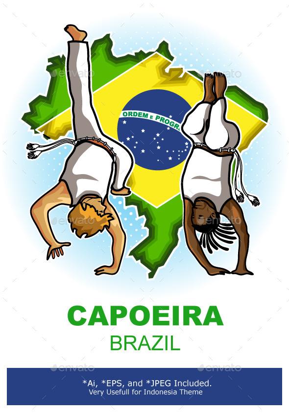 Brazilian Martial Art Capoeira - Sports/Activity Conceptual