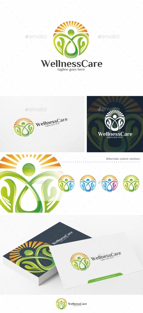 Wellness Care / People - Logo Template - Humans Logo Templates
