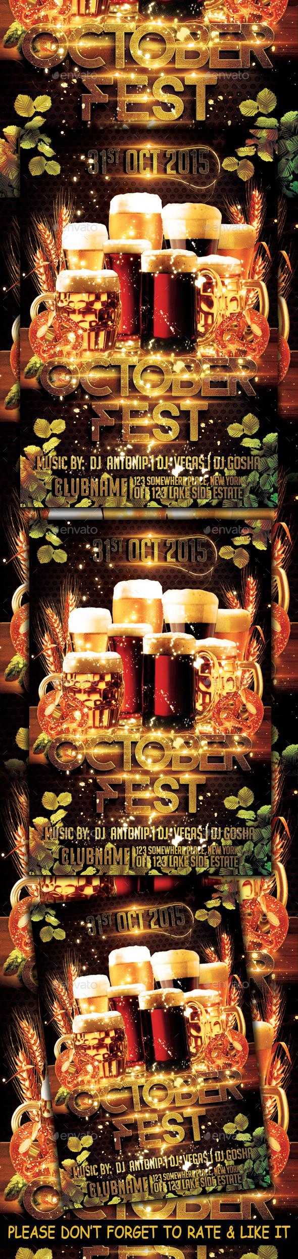 Octoberfest Flyer Template - Flyers Print Templates
