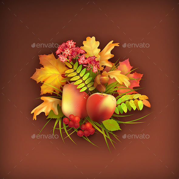 Autumn Harvest Background - Objects Illustrations