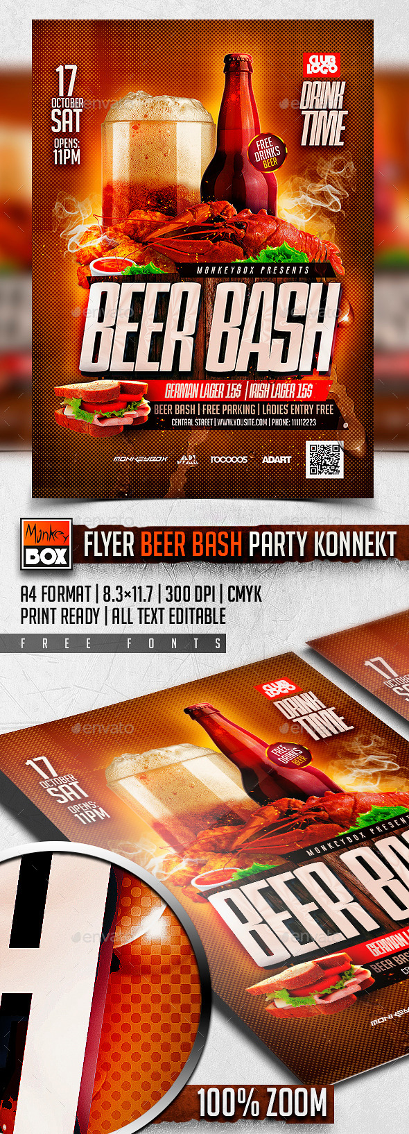 Flyer Beer Bash Party Konnekt