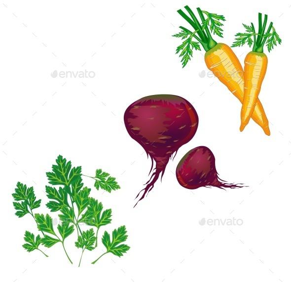 Vegetables Illustration - Food Objects