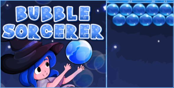 Bubble Sorcerer HTML5 Bubble Shooter