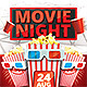 Movie Night Flyer v2 - GraphicRiver Item for Sale