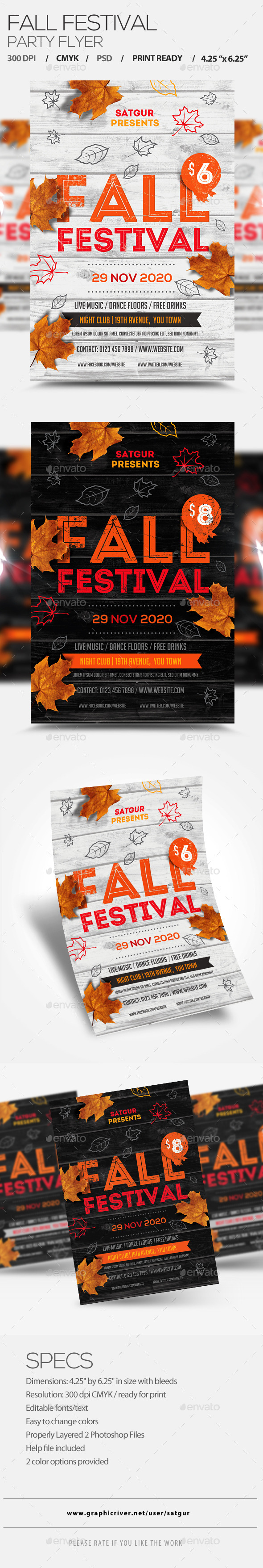 Fall Festival Flyer V1 - Clubs & Parties Events