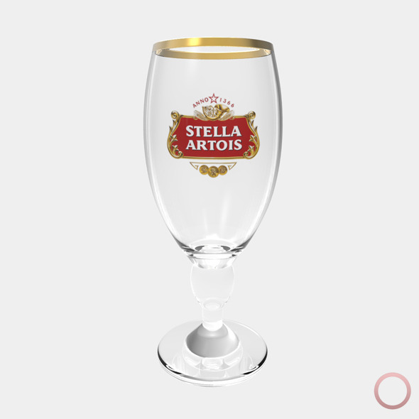 Stella Artois Beer Glass - 3DOcean Item for Sale