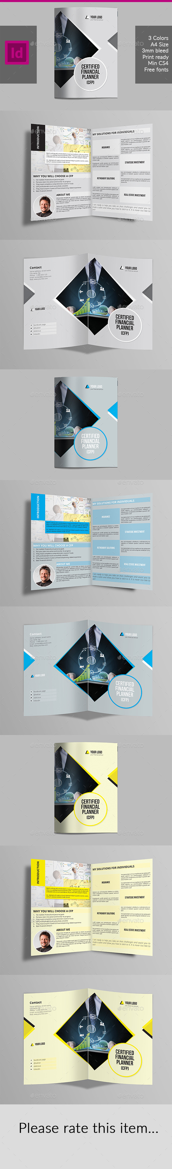 Half Fold Brochure for Financial Advisor - Corporate Brochures