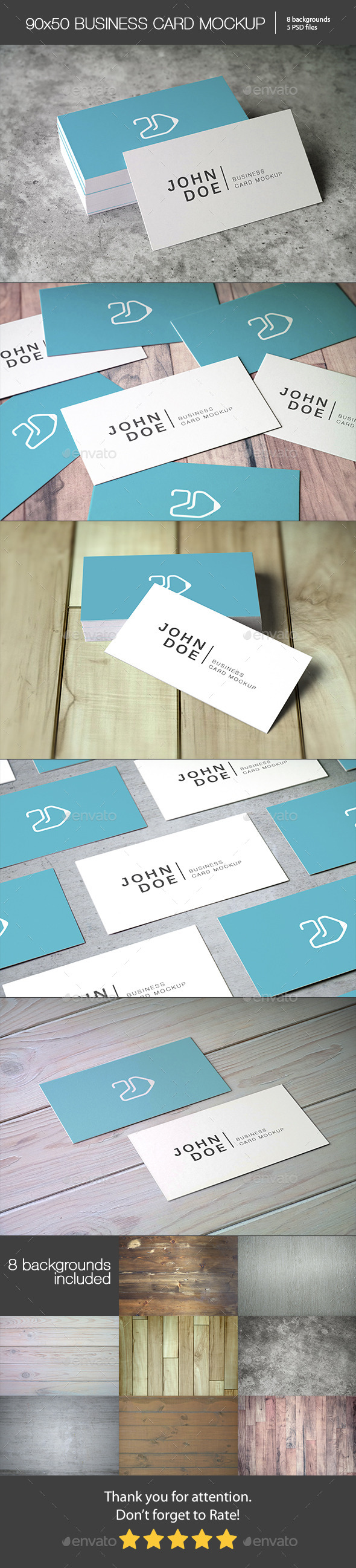 90x50 Business Card Mockup - Business Cards Print