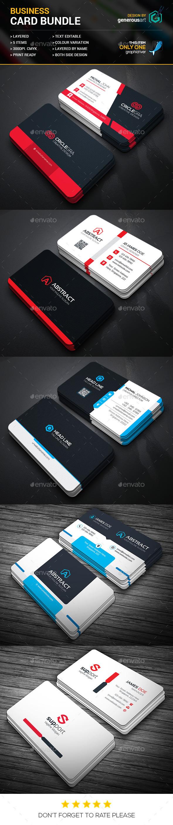 Business Card Bundle 5 in 1 Vol 24