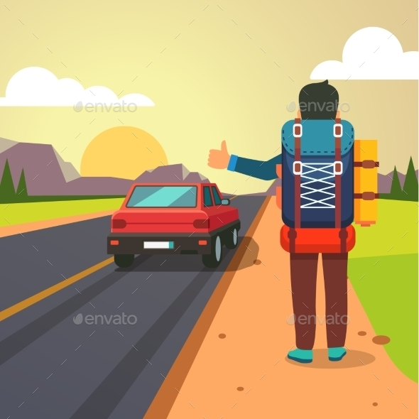 Hitchhiking Road Travel