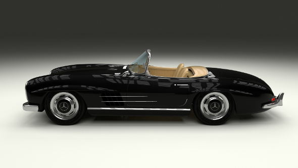 Mercedes 300SL Roadster W198 - 3DOcean Item for Sale