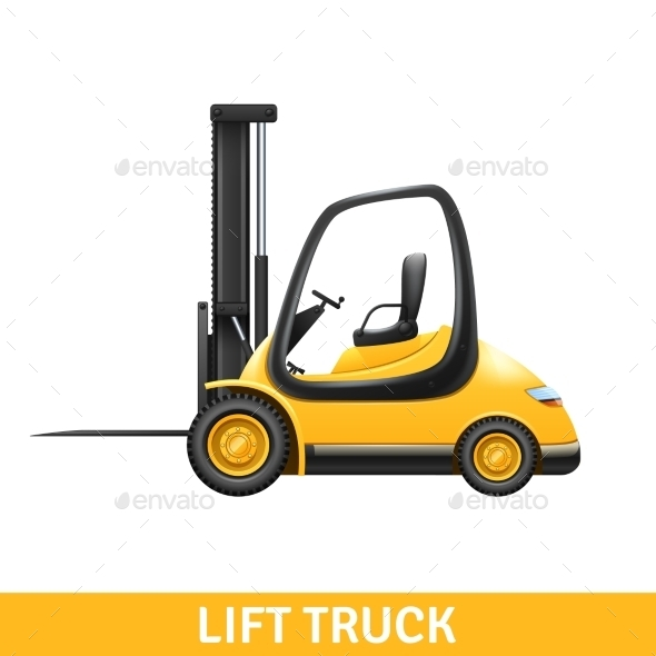 Lift Truck Illustration  - Services Commercial / Shopping