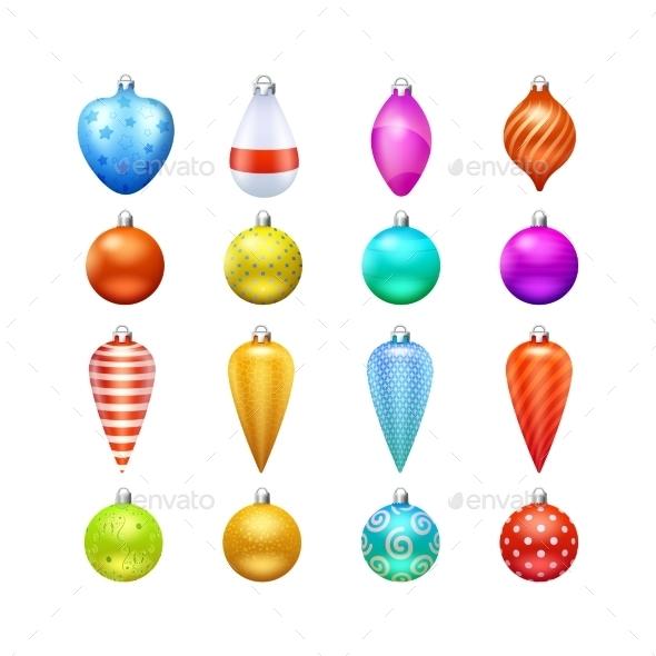 Christmas Toys Icons Set - Christmas Seasons/Holidays