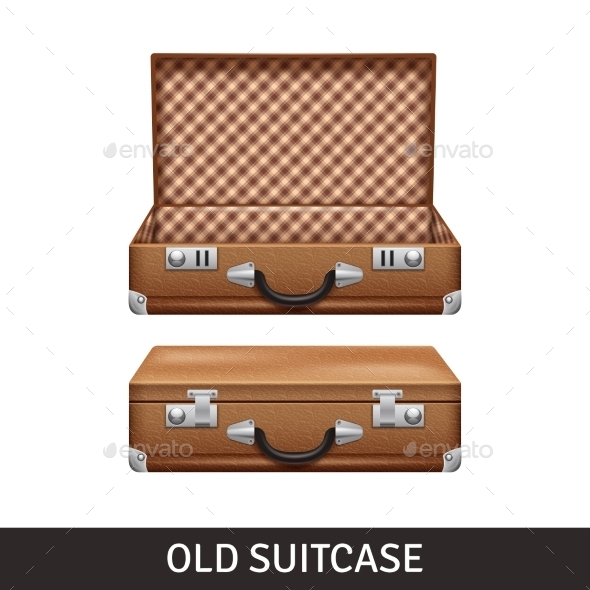 Old Suitcase Illustration - Travel Conceptual