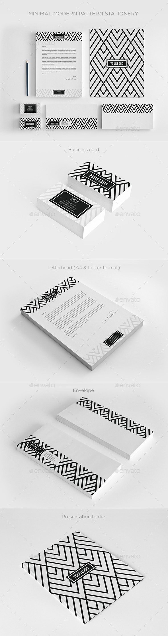 Minimal Modern Pattern Stationery
