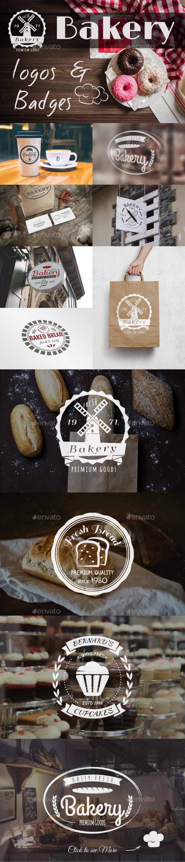 Bakery Logos & Badges