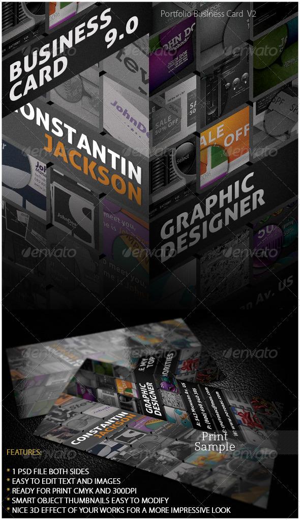 Portfolio Business Card 9.0 - Creative Business Cards