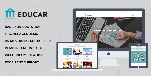 Educar – Powerful Education, Courses Drupal Theme
