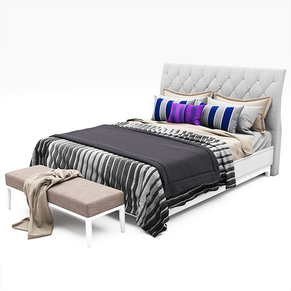 Bed collection 42 - 3DOcean Item for Sale