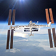 International Space Station Over The Planet Earth - VideoHive Item for Sale