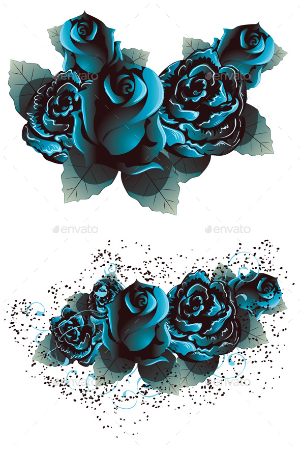 Blue Roses - Flowers & Plants Nature