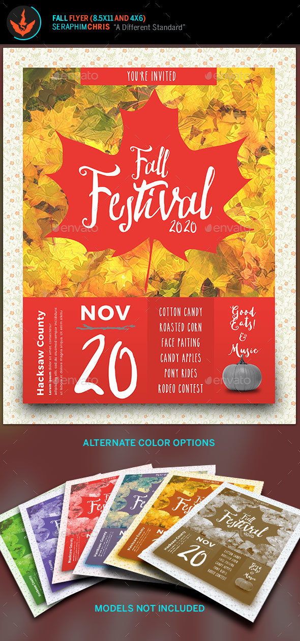 fall festival flyer template by seraphimchris graphicriver. Black Bedroom Furniture Sets. Home Design Ideas
