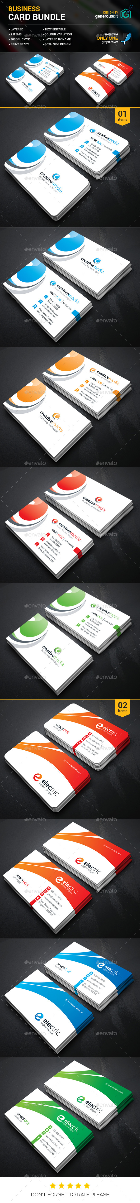 Business Card Bundle 2 in 1 Vol.25