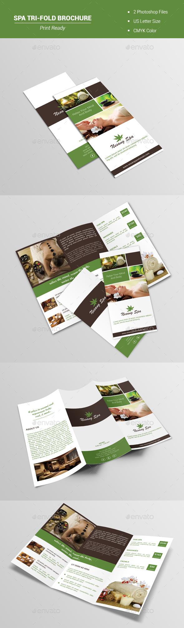 Spa Tri-Fold Brochure V1 - Brochures Print Templates