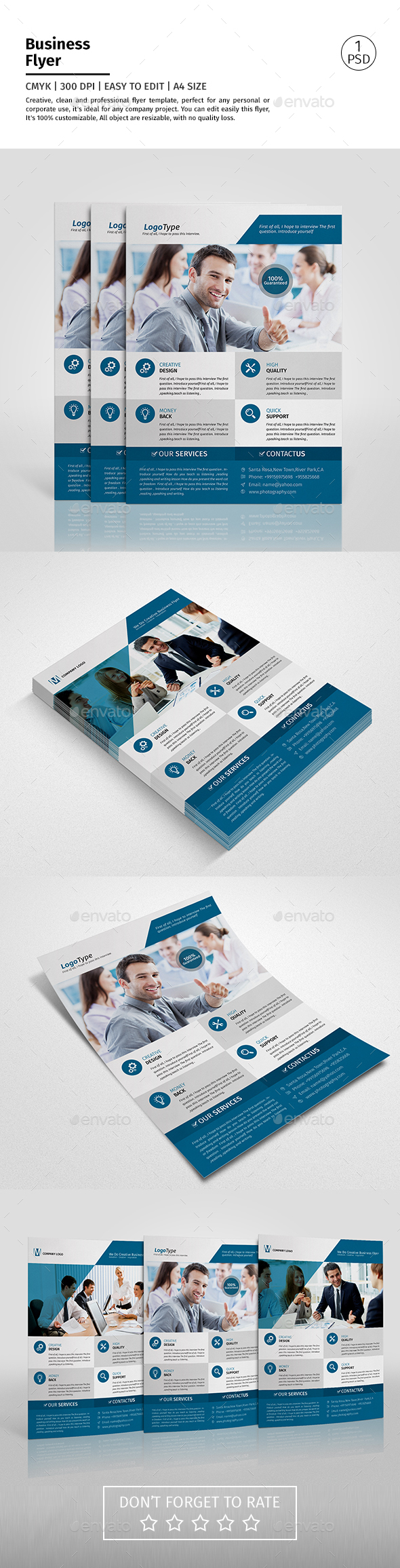 A4 Corporate Business Flyer Template Vol 01
