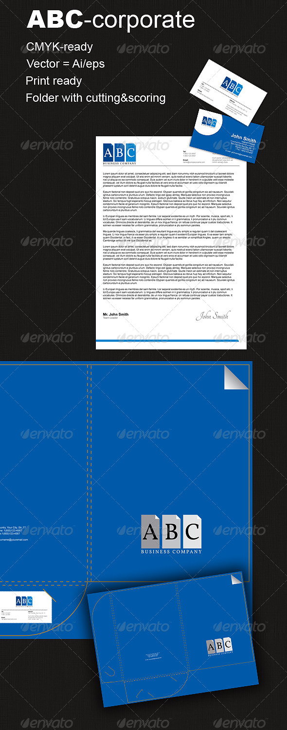 ABC-Corporate - Stationery Print Templates