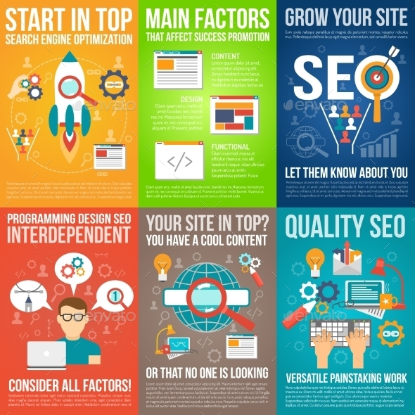 Web Poster Set - Web Technology