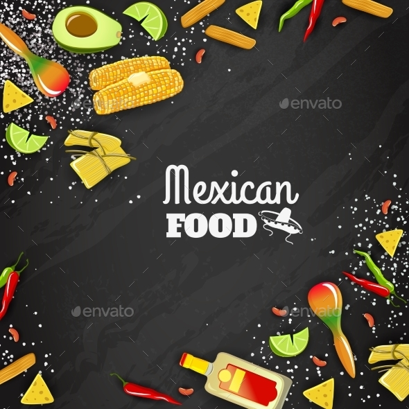 Mexican Food Seamless Background - Backgrounds Business