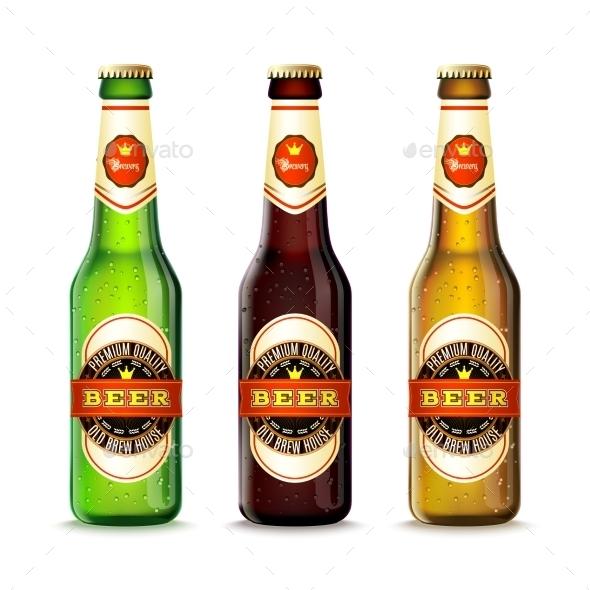 Beer Bottles Set - Food Objects