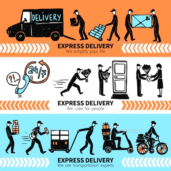 Delivery Banner Set - Business Conceptual